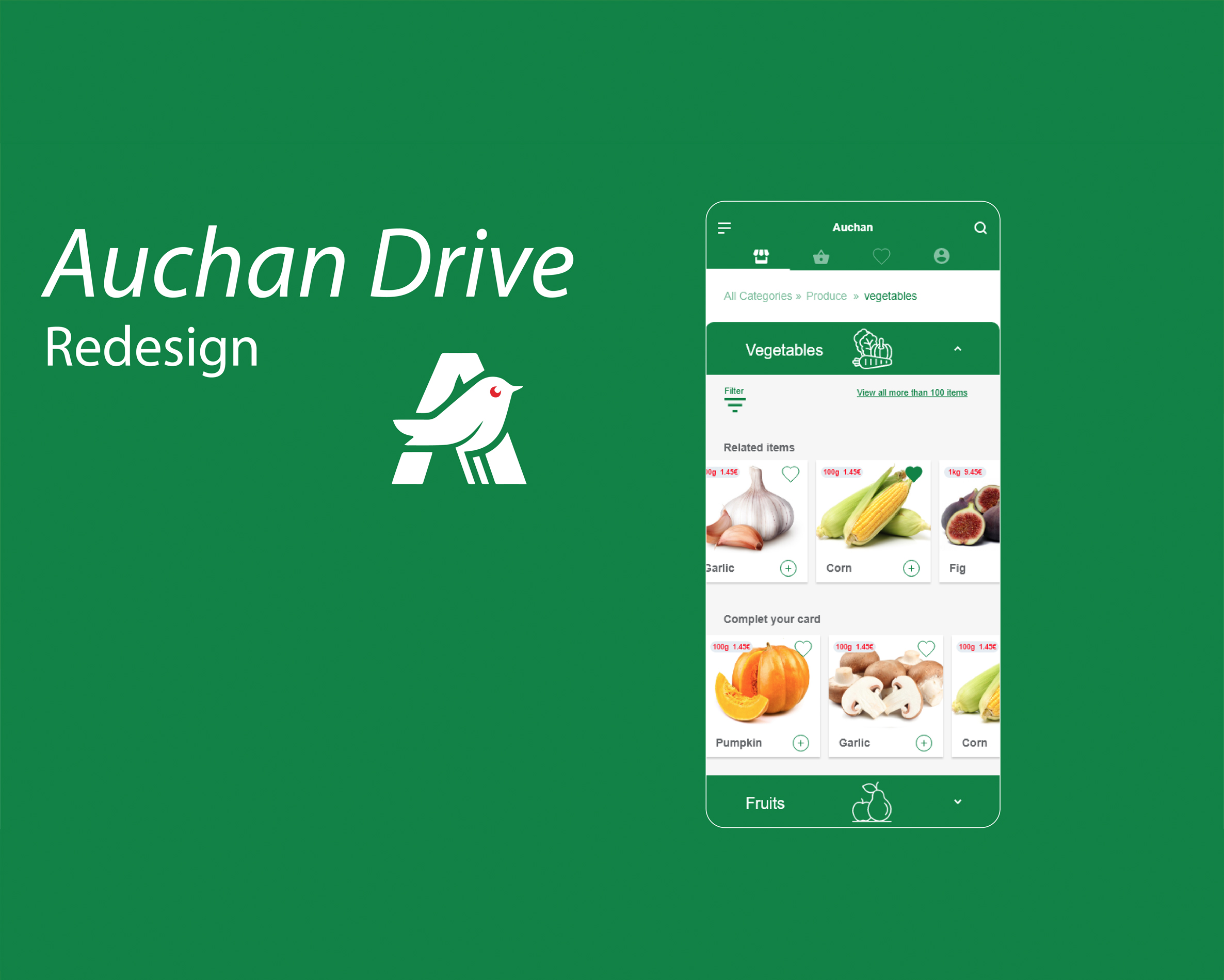Auchan drive Redesign